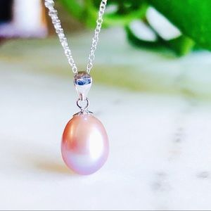 Jewelry - 18K White Gold Lavender Cultured Pearl Necklace